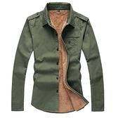 長袖襯衫-粗獷性格嚴選騎士風男加絨上衣3色72am20【巴黎精品】