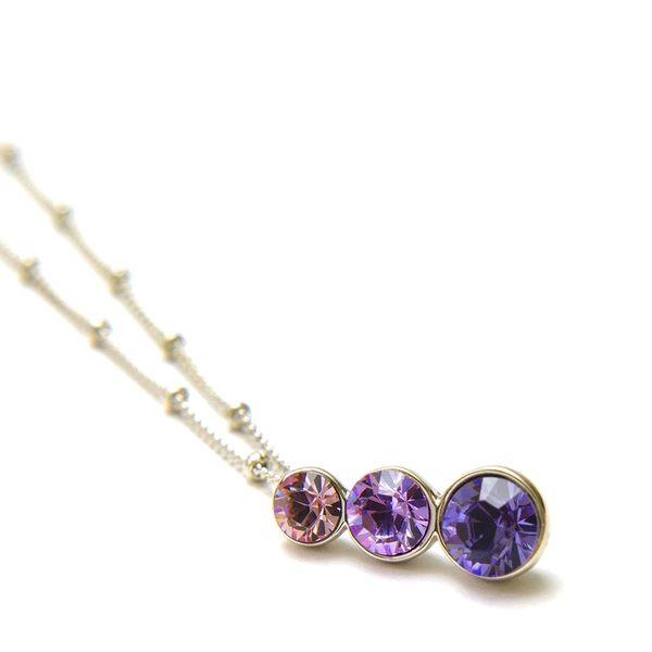 韓國飾品 CLUE 三色水晶項鍊