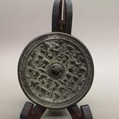 古玩雜項 青銅鏡 唐靜 漢代銅鏡 動物銅鏡 圓形
