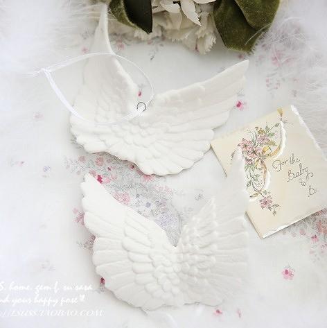 【協貿國際】復古天使翅膀擺件挂件裝飾(2入)