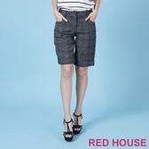 RED HOUSE-蕾赫斯-格紋毛料短褲(共兩色)