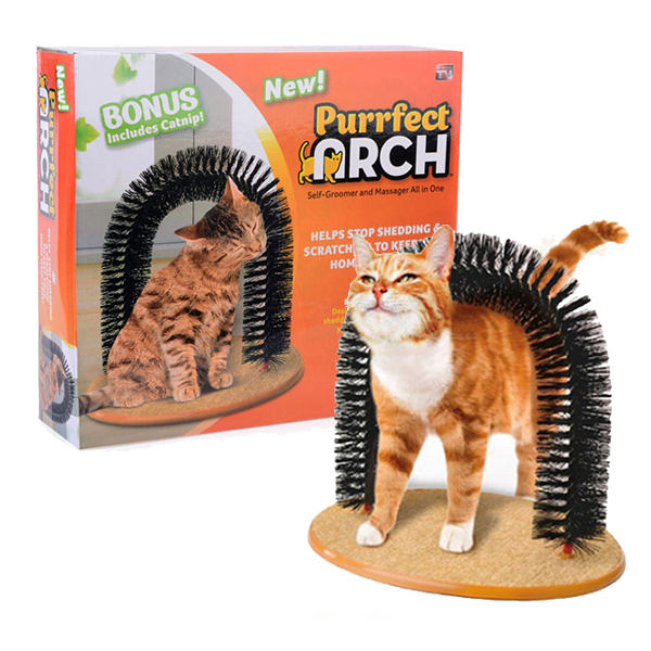 purrfect arch 貓刷 蹭毛刷 蹭毛器 逗貓玩具