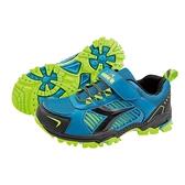 《Diadora》兒童 越野鞋 藍黑色 DA13007