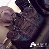 運動包-手提旅行包男大容量編織行李袋女真皮休閑出差健身包短途旅游包潮