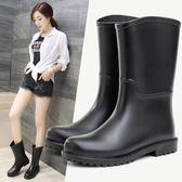 雨鞋夏季時尚靴子套鞋百搭輕便防滑全館免運