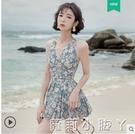 游泳衣女夏2021新款溫泉遮肚顯瘦仙女范韓國ins女士性感連體泳裝 蘿莉新品