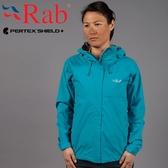 Rab QWF63-TA塔斯曼海藍 女高透氣防風防水外套/風衣 Downpour戶外夾克/防寒防雨衣/機能服