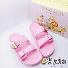 【樂樂童鞋】【台灣製現貨】角落小夥伴勃肯拖鞋-粉色 B011 - 現貨 台灣製 女童鞋 拖鞋 兒童拖鞋