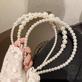 復古少女簡約百搭珍珠髮箍頭箍淑女氣質髮帶髮飾女【小酒窩服飾】【小酒窝服饰】