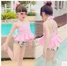 2017新款女童中小童裙式泳裝LVV411【kikikoko】