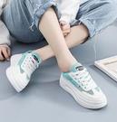 新款小白鞋女春季百搭爆款厚底學生夏季薄款板鞋透氣運動網鞋 雙12全館免運