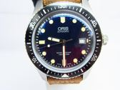 ORIS 豪利時 藍色面盤皮革錶帶自動上鍊機械潛水腕錶Divers Sixty Five 【BRAND OFF】