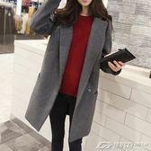 外套女大衣中長款新款韓版秋冬季流行赫本風呢子加厚學生  潮流前線