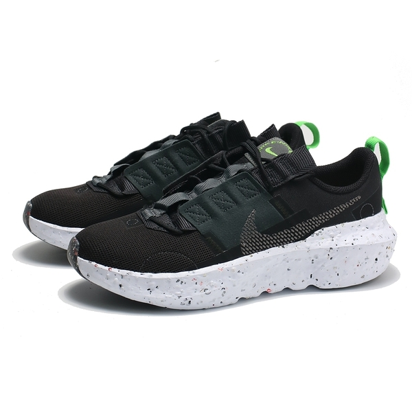 NIKE 休閒鞋 CRATER IMPACT 黑 潑墨 縫線 環保材質 男 (布魯克林) DB2477-001