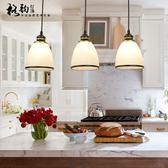 美式餐廳吊燈三頭北歐現代簡約創意復古田園個性餐桌飯廳燈飾燈具【好康八九折搶購】