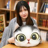 卡通可愛貓咪抱枕被子兩用靠墊珊瑚絨汽車辦公室空調被靠枕毯枕頭   可然精品鞋櫃