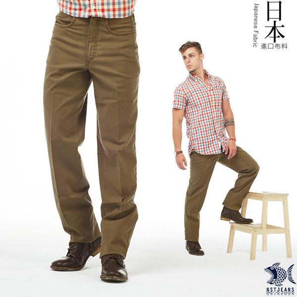 【NST Jeans】日本布料_秋日大地色 陶土棕 直筒休閒褲(中腰) 390(5566)