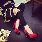 韓版時尚高跟鞋細跟性感伴娘結婚鞋ol職業女鞋女鞋