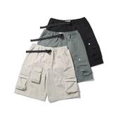 短褲-純色寬鬆工裝多口袋五分男休閒褲3色73xl24【巴黎精品】