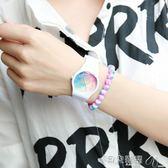 手錶小清新可愛女學生手表原宿風星空兒童手表糖果色防水果凍手表 貝兒鞋櫃