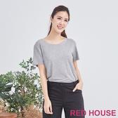 【RED HOUSE 蕾赫斯】素面圓領不修邊Tee(共3色)