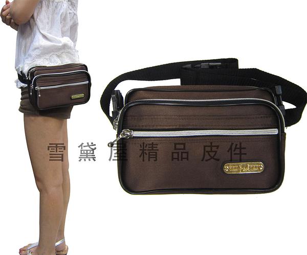 ~雪黛屋~YAK 腰包中容量主袋+外袋共四層多功能腰包斜側包多層多袋口大老闆做生意的好幫手Y910