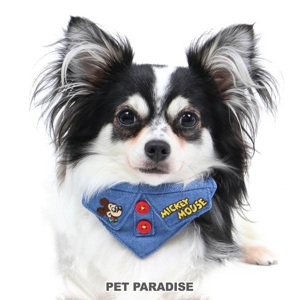 【PET PARADISE 寵物精品】DISNEY 米奇大頭牛仔領巾項圈【SS】 寵物造型項圈