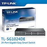 【免運費】TP-LINK  TL-SG1024DE 24埠 Gigabit 智慧型 交換器