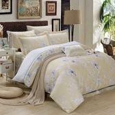✰雙人 薄床包兩用被四件組✰ 100%純天絲(加高35CM)《吉尼時光-黃》