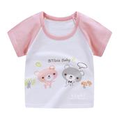 粉紅小熊透氣短袖T恤上衣 T恤 短袖 童裝 上衣