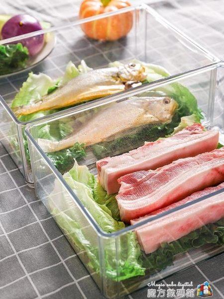 廚房冰箱冷藏冷凍收納盒保鮮盒餃子盒食品食物收納神器儲物盒塑料  魔方數碼館
