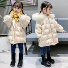 兒童棉服女 女童羽絨棉服2021年冬季一歲女寶寶冬裝加厚棉衣2兒童3中長款【快速出貨八折下殺】