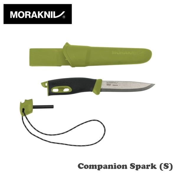 【速捷戶外】瑞典MORAKNIV 直刀(附打火石)綠 Companion Spark 13570, 露營,野炊,登山,行動廚房必備