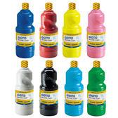 【義大利 GIOTTO】可洗式兒童顏料1000ml(單罐多色可選)★一次買6瓶加送海綿筆刷2支+調色盤