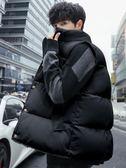 棉馬甲男秋冬季韓版潮流情侶款羽絨棉坎肩加厚保暖背心無袖外套男  莉卡嚴選