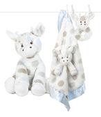 【美國 Little Giraffe】嬰兒安撫娃娃彌月套組(長頸鹿安撫巾/安撫娃娃/手搖鈴)-3色可選