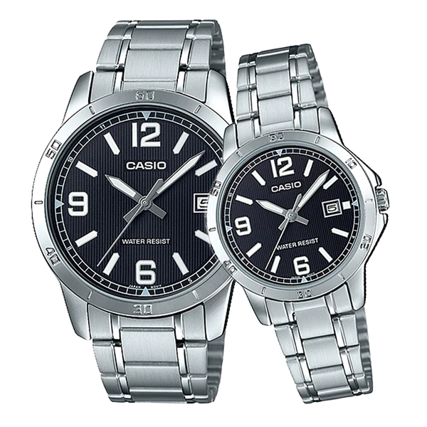 CASIO 卡西歐 手錶專賣店 MTP-V004D-1B2+LTP-V004D-1B2 對錶 指針錶 不鏽鋼錶帶