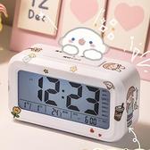 鬧鐘 電子鬧鐘學生用簡約小女生可愛臥室宿舍大音量智能靜音床頭時鐘【快速出貨八折搶購】