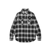 CACO-落肩款布章襯衫(二色)-男【UNA106】