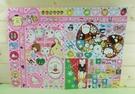 【震撼精品百貨】Hello Kitty 凱蒂貓~貼紙~格子布丁