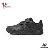 New Balance童鞋 女鞋 680 運動鞋 慢跑鞋 魔鬼氈 寬楦 皮革 中大童 全黑 P8521#黑色◆OSOME奧森鞋業