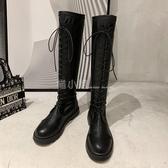 膝上靴 長靴女過膝2020新款夏季單靴軟皮百搭瘦瘦中筒春秋長筒高筒騎士靴 喵小姐
