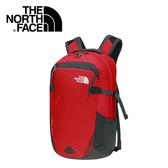 【The North Face 28L 15吋電腦背包 紅/瀝灰】 NF0A2RD7/附求生哨/電腦背包/登山背包/後背包
