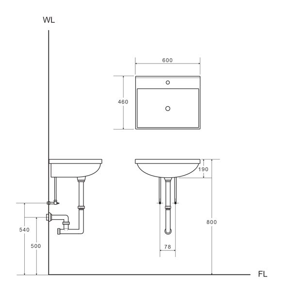 【台灣吉田】LOP-6425 60cm 全發泡桶身/水晶面板 浴櫃組