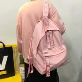 韓國原宿字母雙肩包學院風書包學生背包女休閒森系潮旅行AA 6565