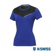 K-SWISS T-Shirt 韓版短袖T恤-女-藍