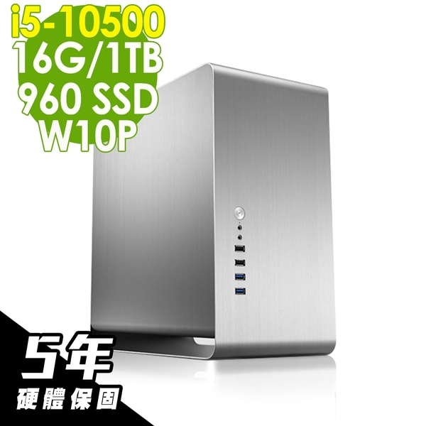 iStyle 雙碟商用電腦 i5-10500/16G/960SSD+1TB/W10P/五年保固