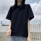 短袖T恤 純棉夏裝短袖t恤女黑色寬鬆顯瘦半袖大碼韓版2021新款上衣服ins潮 寶貝寶貝計畫 上新