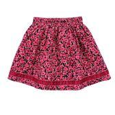 【愛的世界】甜心公主純棉玫瑰條絨短裙/3~4歲-台灣製- ★秋冬下著