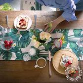桌巾原創現代北歐清新植物棉麻餐桌布電視櫃茶几桌布台布蓋巾桌旗